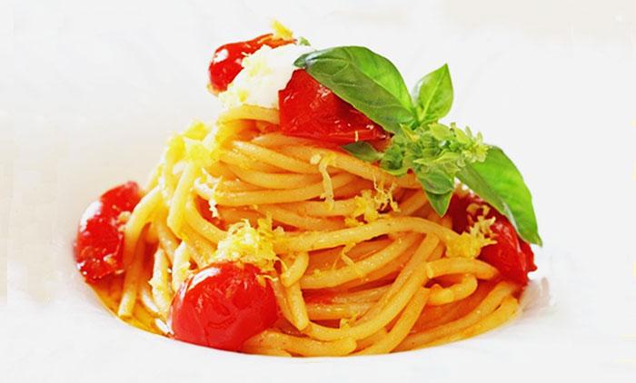 Spaghetti con pomodorini spunzillo